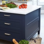 Benjamin Moore Hale Navy for Contemporary Kitchen with Navy Island