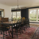 Benjamin Moore Hale Navy for Traditional Dining Room with White Wood