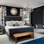 Benjamin Moore Hale Navy for Transitional Bedroom with Bed