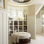 Benjamin Moore Manchester Tan for Traditional Bedroom with Ottoman