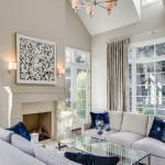Benjamin Moore Manchester Tan for Traditional Living Room with Facing Sofas