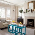 Benjamin Moore Manchester Tan for Traditional Living Room with Window Treatments