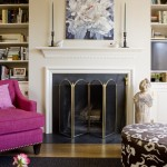 Benjamin Moore Manchester Tan for Transitional Family Room with Fireplace Mantel