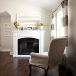 Benjamin Moore Moonshine for Traditional Bedroom with Wood Beam