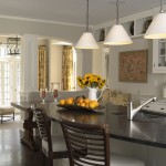Benjamin Moore Moonshine for Traditional Kitchen with Transitional