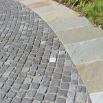 Benjamin Moore Moonshine for Traditional Spaces with Lt Grey Porphyry Cobblestone