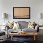 Benjamin Moore Moonshine for Transitional Living Room with White Table Lamps