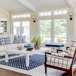 Benjamin Moore Muslin for Beach Style Family Room with White Sofa