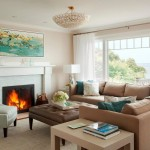 Benjamin Moore Muslin for Beach Style Living Room with Paint