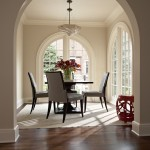 Benjamin Moore Muslin for Traditional Dining Room with Floral Arrangement