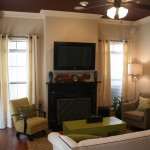 Benjamin Moore Muslin for Traditional Living Room with Small Living Room