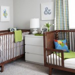 Benjamin Moore Sea Salt for Modern Nursery with Draperies