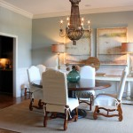 Benjamin Moore Sea Salt for Traditional Dining Room with Pedestal Table