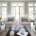 Benjamin Moore Sea Salt for Traditional Living Room with French Doors