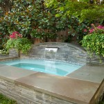 Benjamin Moore Sea Salt for Traditional Pool with Copper Scupper