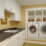 Benjamin Moore Seattle for Craftsman Laundry Room with Built in Cabinets