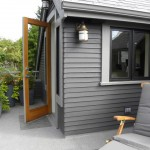 Benjamin Moore Seattle for Craftsman Porch with Gray Lap Siding