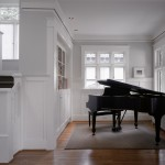 Benjamin Moore Seattle for Traditional Living Room with Grand Piano