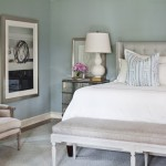 Benjamin Moore White Dove for Transitional Bedroom with Baseboards