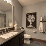 Berenson Hardware for Traditional Bathroom with Stone Shower Floor