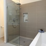 Best Buy Nashua Nh for Midcentury Bathroom with Curbless Shower