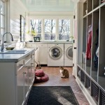 Best Smelling Laundry Detergent for Traditional Laundry Room with Blue Ceiling