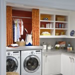 Best Smelling Laundry Detergent for Transitional Laundry Room with Gray Counter