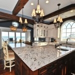 Bianco Antico Granite for Mediterranean Kitchen with Dining Hutch
