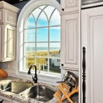 Bianco Antico Granite for Mediterranean Kitchen with White Kitchen