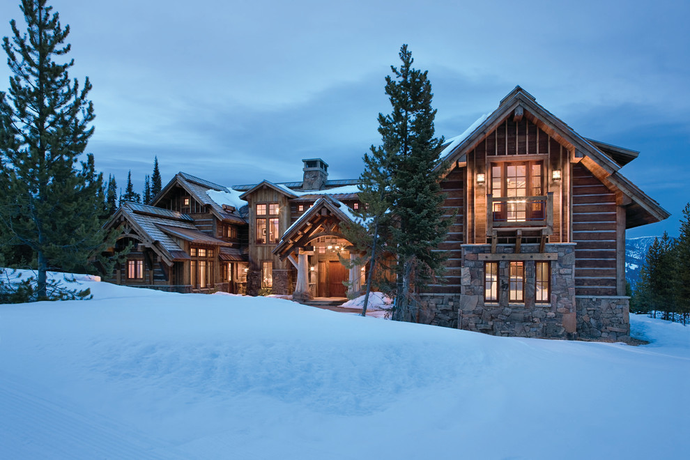 Big Sky Brokers for Rustic Exterior with Clerestory Windows