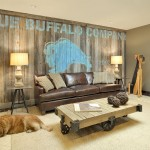 Bison Lumber for Contemporary Basement with Wood Coffee Table