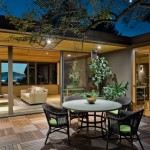 Bison Lumber for Midcentury Patio with Wicker Chairs