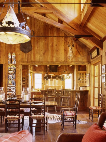 Bison Lumber for Rustic Dining Room with Totem Pole