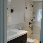 Blackman Plumbing for Transitional Bathroom with Vanity