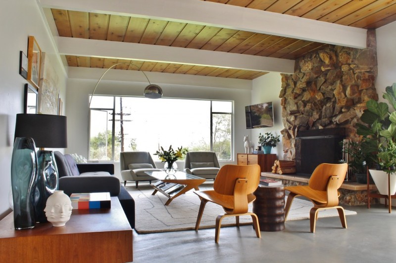 Bloomingdales Furniture for Midcentury Living Room with Eames