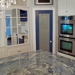 Blue Bahia Granite for Traditional Kitchen with Kitchen Dish Cabinet