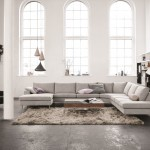 Bo Concept for Contemporary Living Room with Tall Ceilings