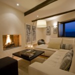 Bo Concept for Mediterranean Living Room with Ottoman