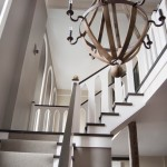 Bobo Intriguing Objects for Modern Staircase with Dark Wood Railing