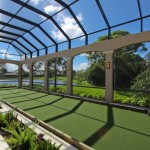 Bocce Ball Court for Traditional Porch with Covered Patio