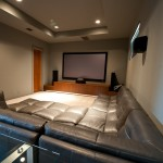 Boerne Theater for Contemporary Home Theater with Carpet