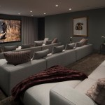 Bonney Lake Theater for Contemporary Home Theater with Brown Carpet
