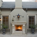 Boral Trim for Mediterranean Patio with Carved Stone Mantel