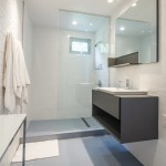 Bowditch Ford for Contemporary Bathroom with Walnut Veneer Cabinets