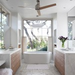 Bowditch Ford for Mediterranean Bathroom with Waterfall Countertop