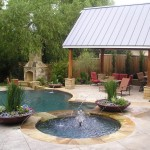 Bowling Alley Dallas for Traditional Pool with Container Plants