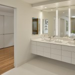 Boyd Lighting for Contemporary Bathroom with Double Sink