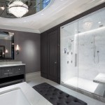 Boyd Lighting for Contemporary Bathroom with Marble Tub Deck