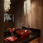 Boyd Lighting for Contemporary Powder Room with Dark Granite Countertop