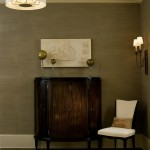 Boyd Lighting for Eclectic Entry with Wallcoverings